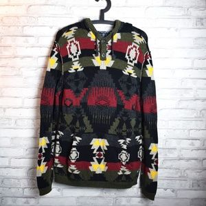 AEO Tribal Aztek Hoodie Sweater Size Medium